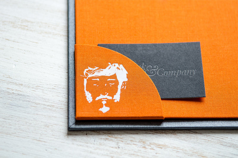 Bespoke Business Card Pocket Holder in Custom Portfolio Binder