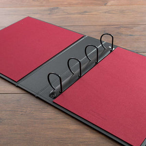 custom made medical and surgical portfolio ring binder with black and red cover
