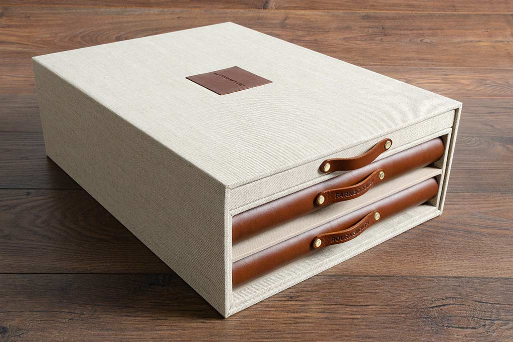 commercial bid presentation box and leather portfolios