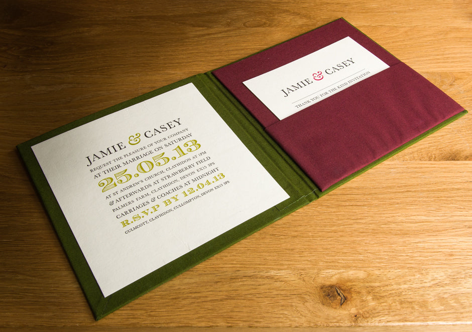Double Fabric Covered Invitation Panel
