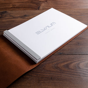 A4 leather guest book with printed inner for luxury yacht
