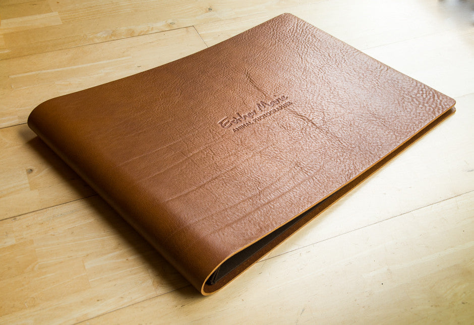 Brown Leather Photography Display Presentation Portfolio