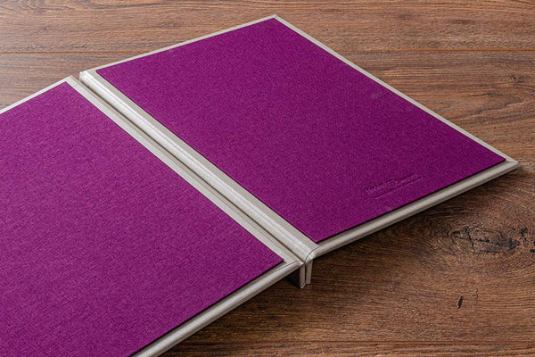 Fabric menu covers with an inner cover board