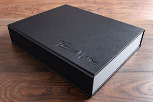faux leather photography portfolio box