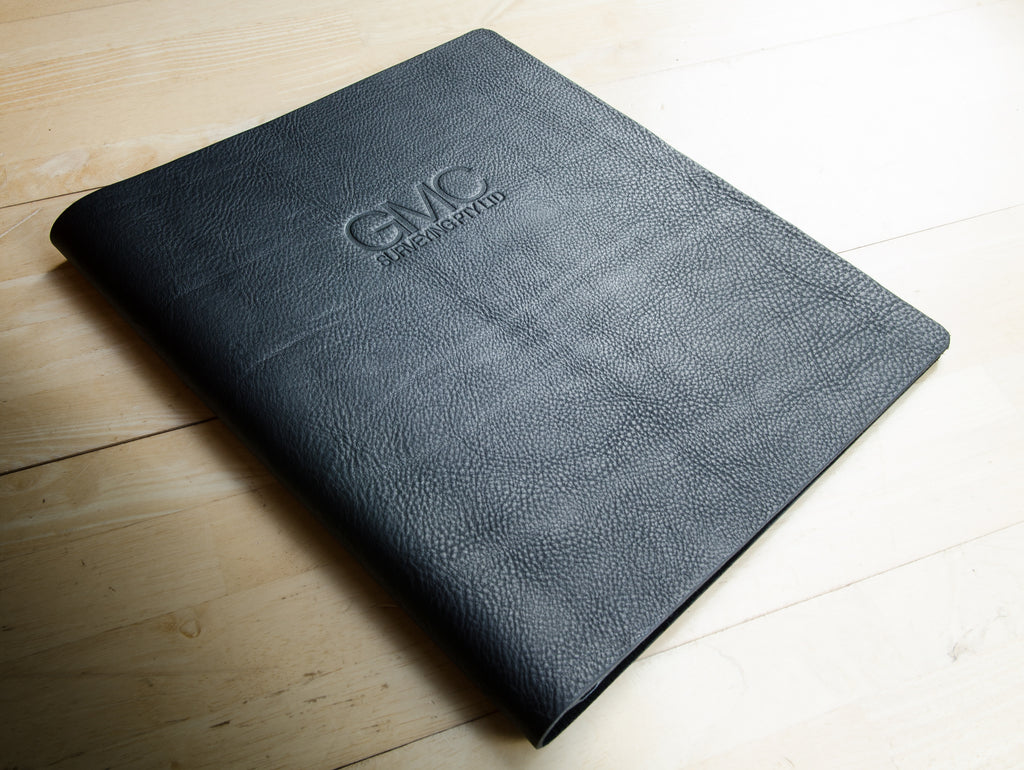 a3 leather presentation portfolio binder custom made by H&Co