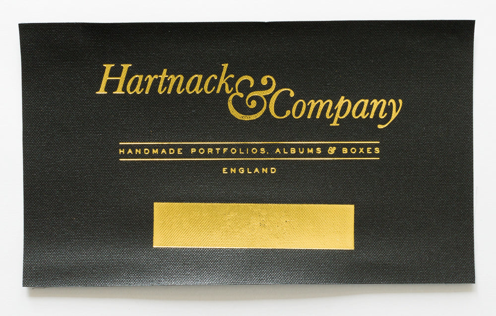 H&Co Matt Gold Metallic Foil on Black Buckram