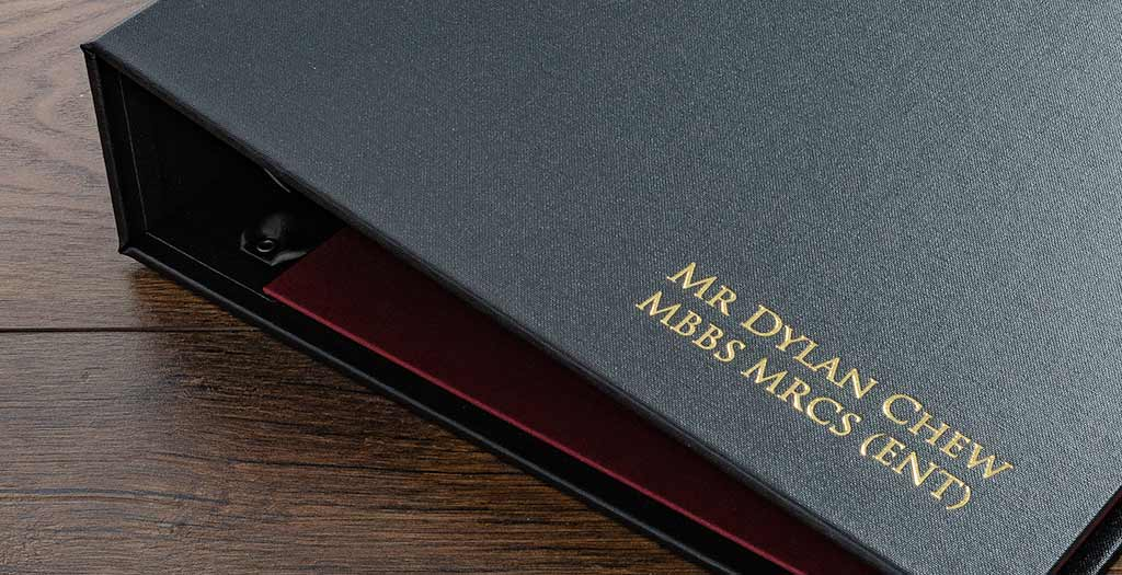 gold foil personalised medical portfolio H&Co 1024px
