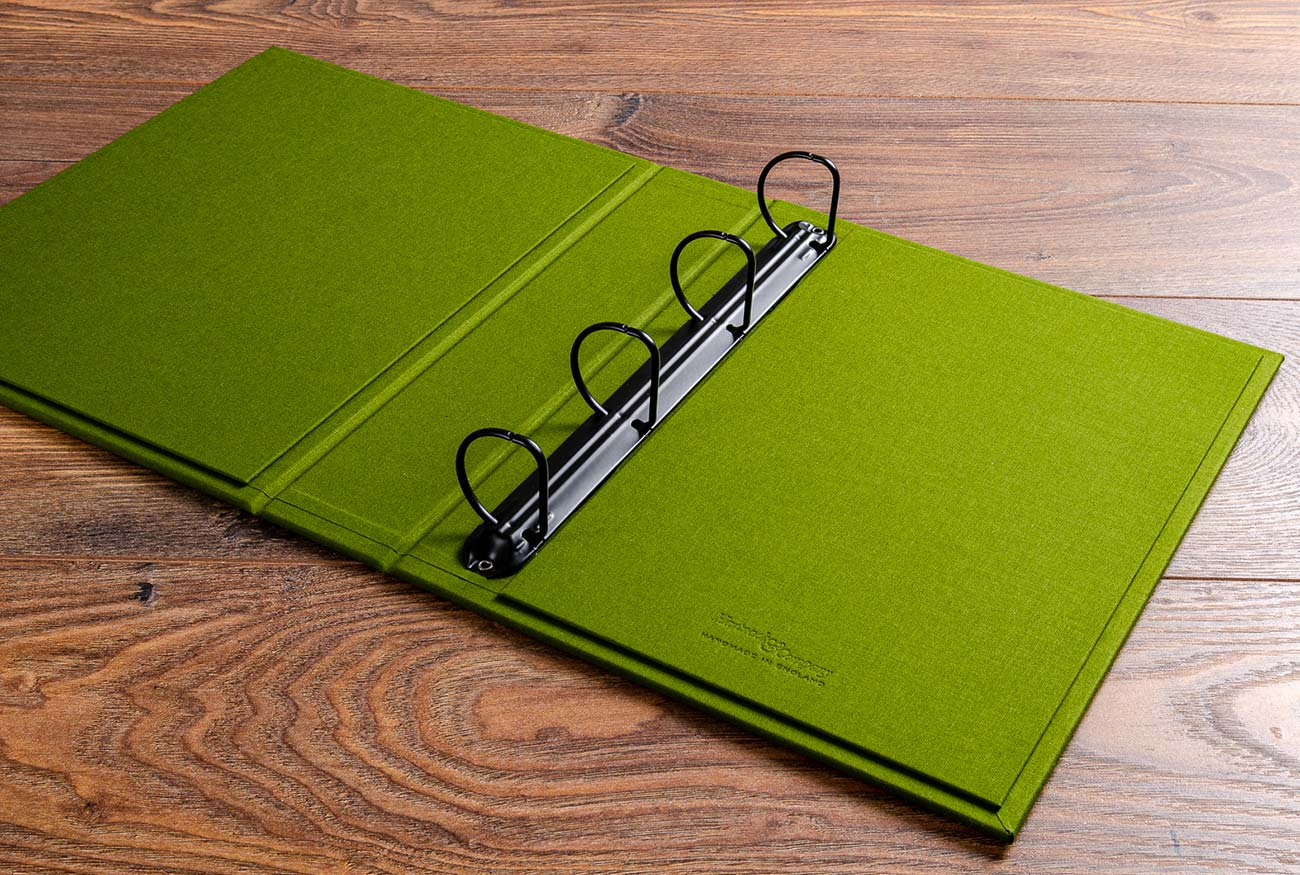 The visitors manual has a 5cm 4 ring binder mechanism