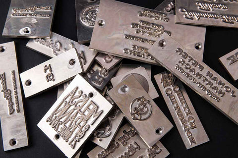metal debossing personalisation plates