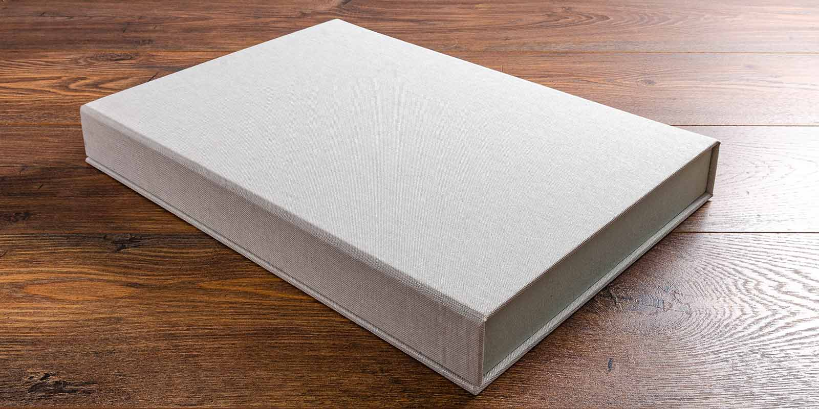 custom made clamshell portfolio box