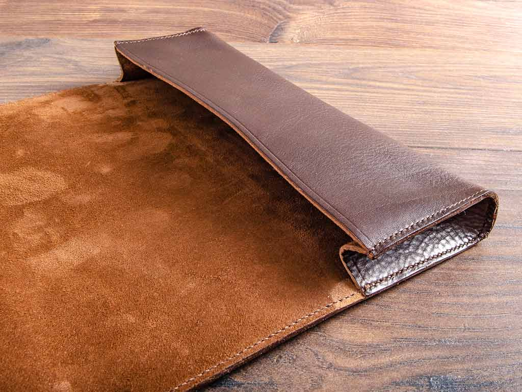 leather document wallet custom made and hand stitched by hartnack and co