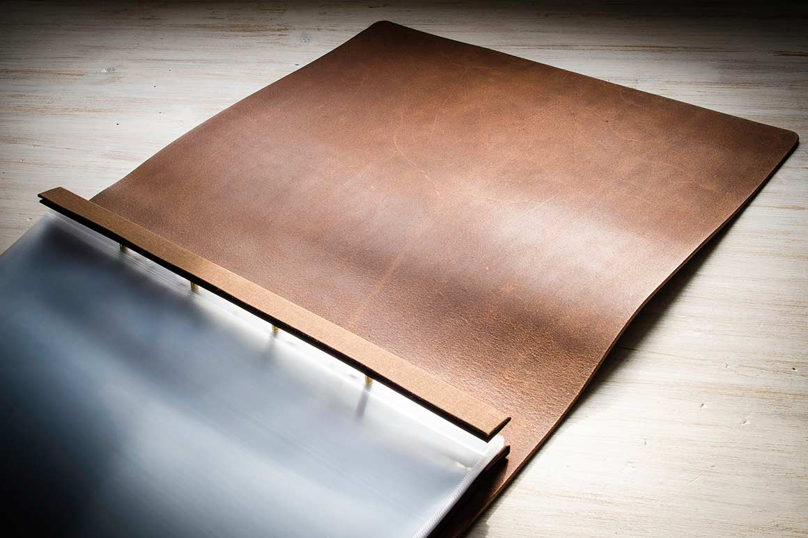H&Co Full Leather Presentation Portfolio Book in Flip Over Format with Optional No Inner Cover