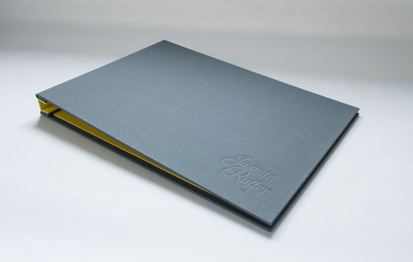 Graphic Designers Portfolio Book with Personalised Embossed Cover