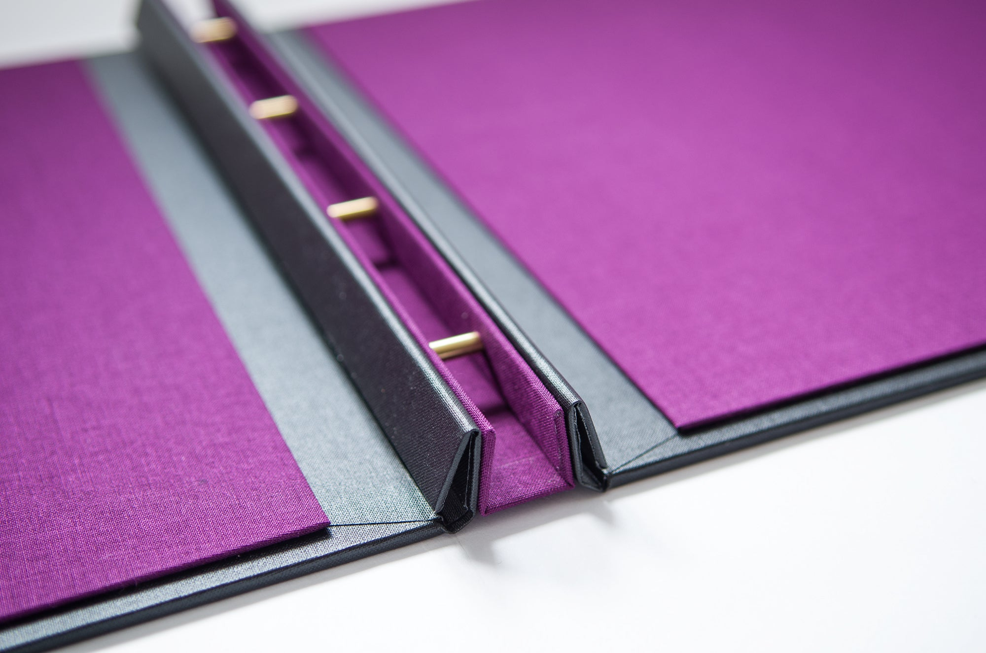 Detail of H&Co Hidden Screw Post Portfolio Presentation Binder