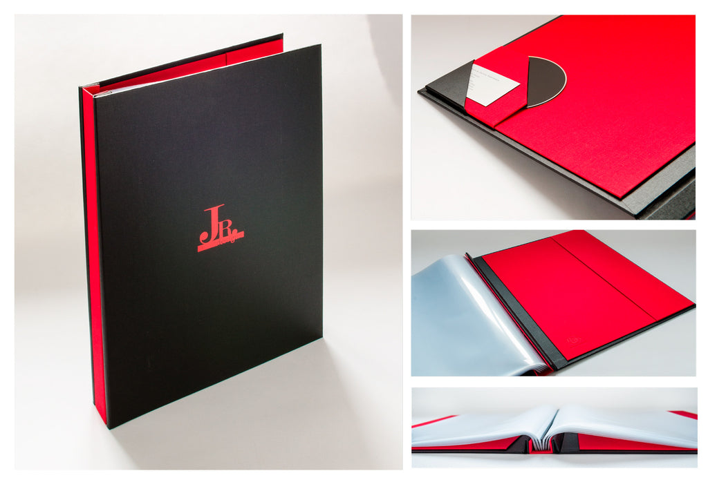 personalized and customized portfolio book for designer 17x11