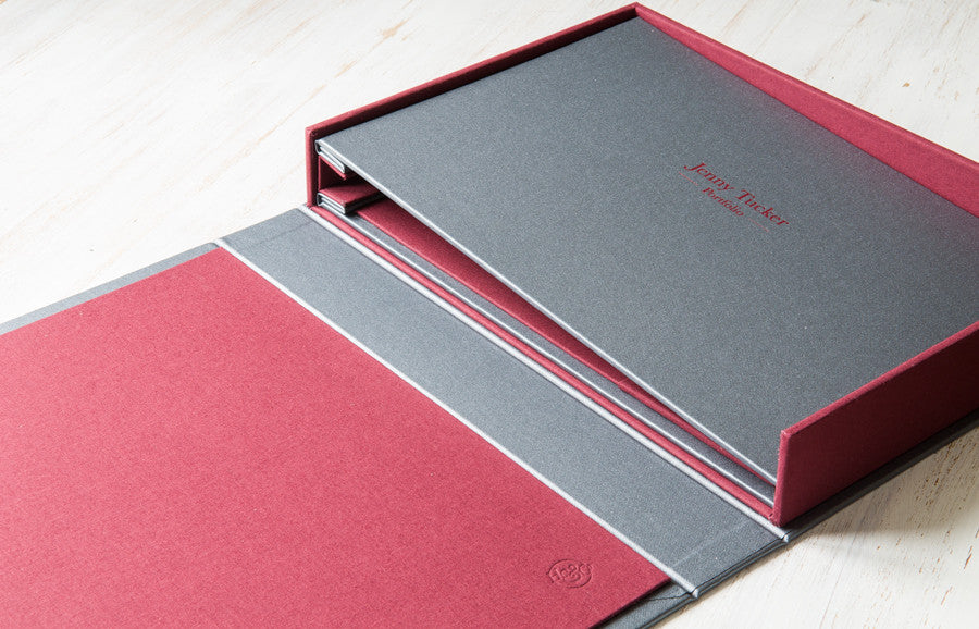 A4 Screw Post Presentation Portfolio Binder and Clamshell Box