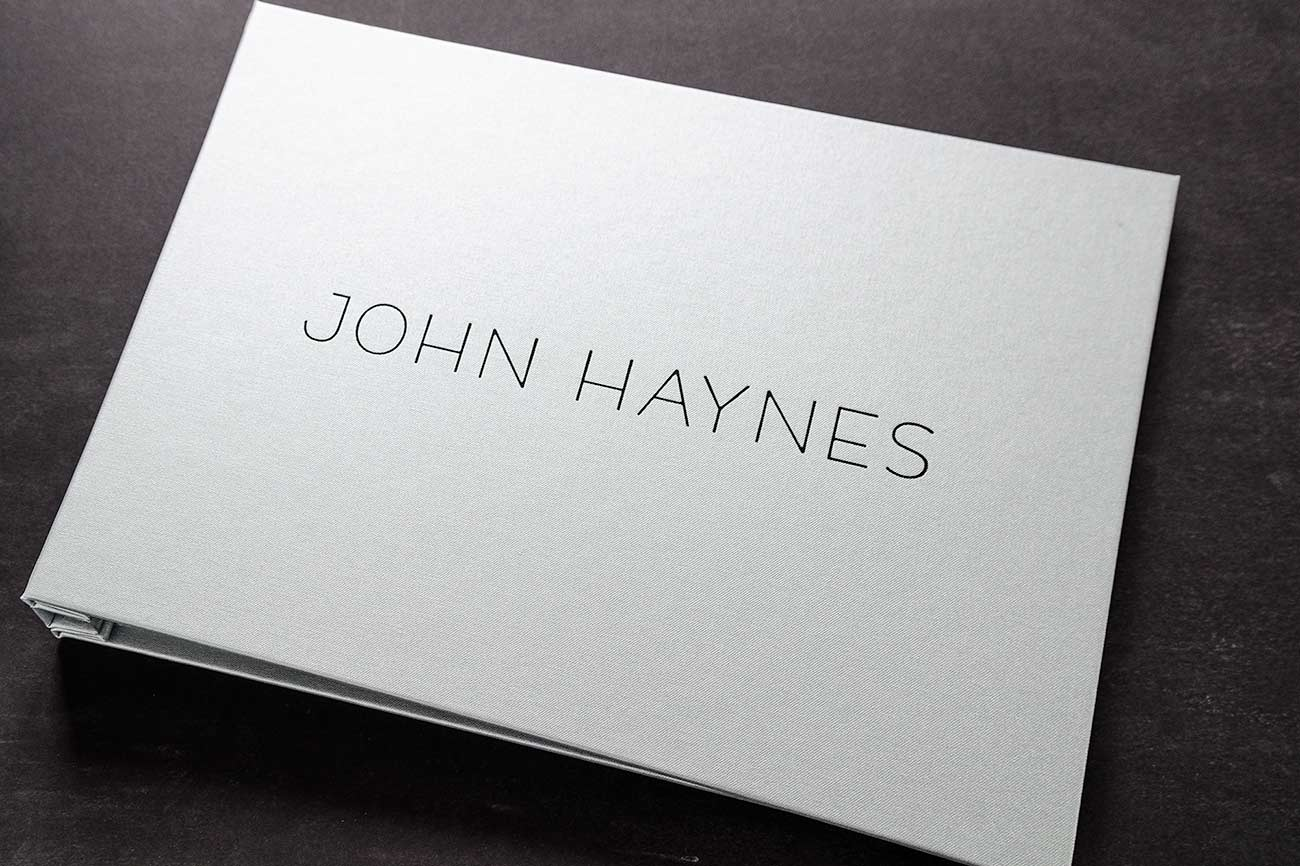 11 x 17 Photographers portfolio book with black foil personalized cover