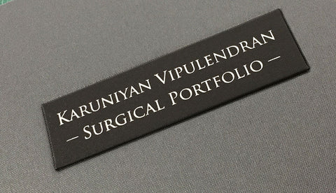personalisation plaque for medical portfolio