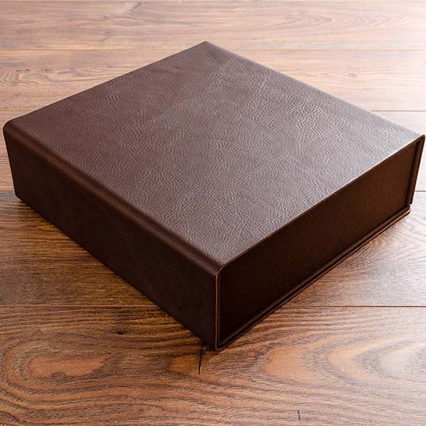 leather covered custom made box binder