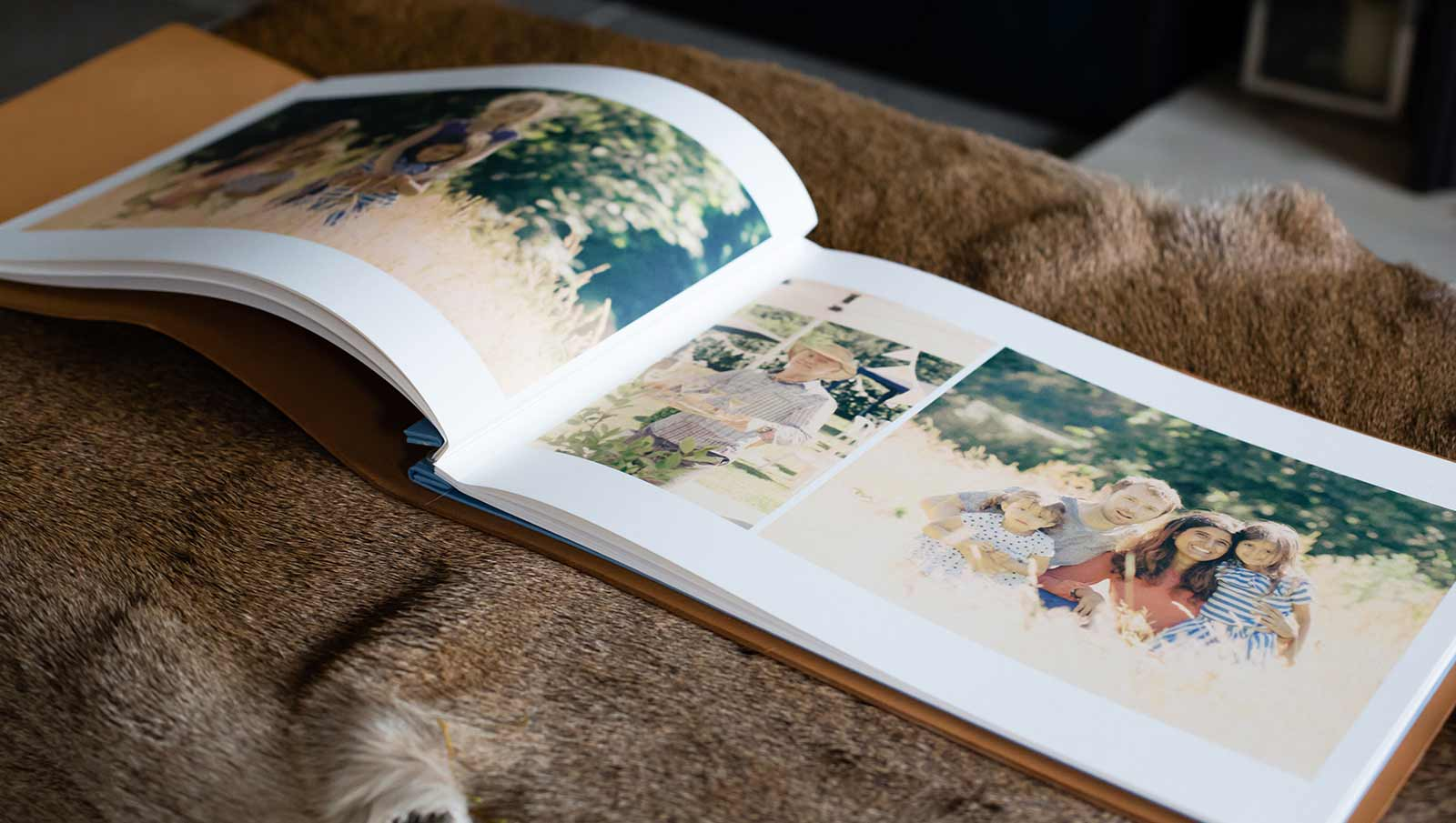 personalised leather photograph album