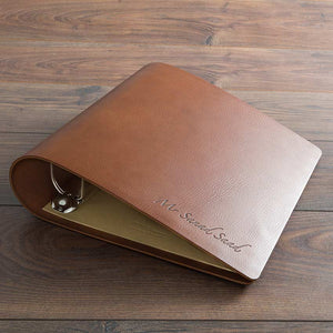 bespoke brown leather surgical portfolio ring binder