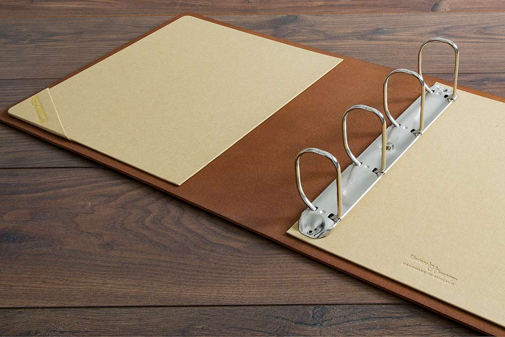 Leather Surgical Portfolio with 6.5cm Ring Binder Mechanism