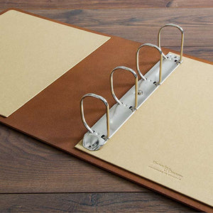 custom made medical and surgical leather ring binder