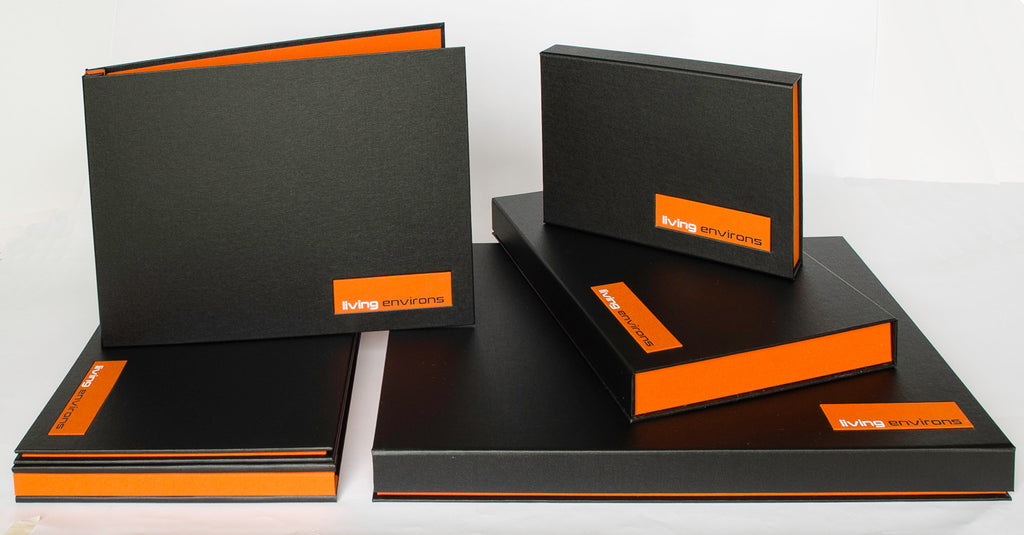 A2, A3, A4 Custom Presentation Portfolio Binders and Clamshell Boxes