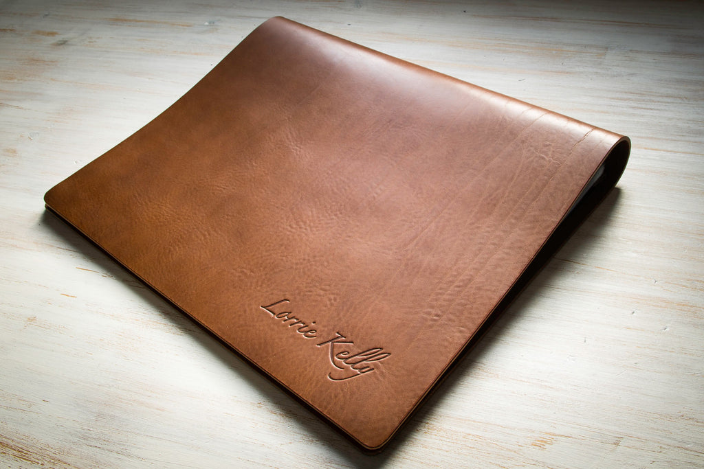 leather photography portfolio book a3 flip over by H&Co