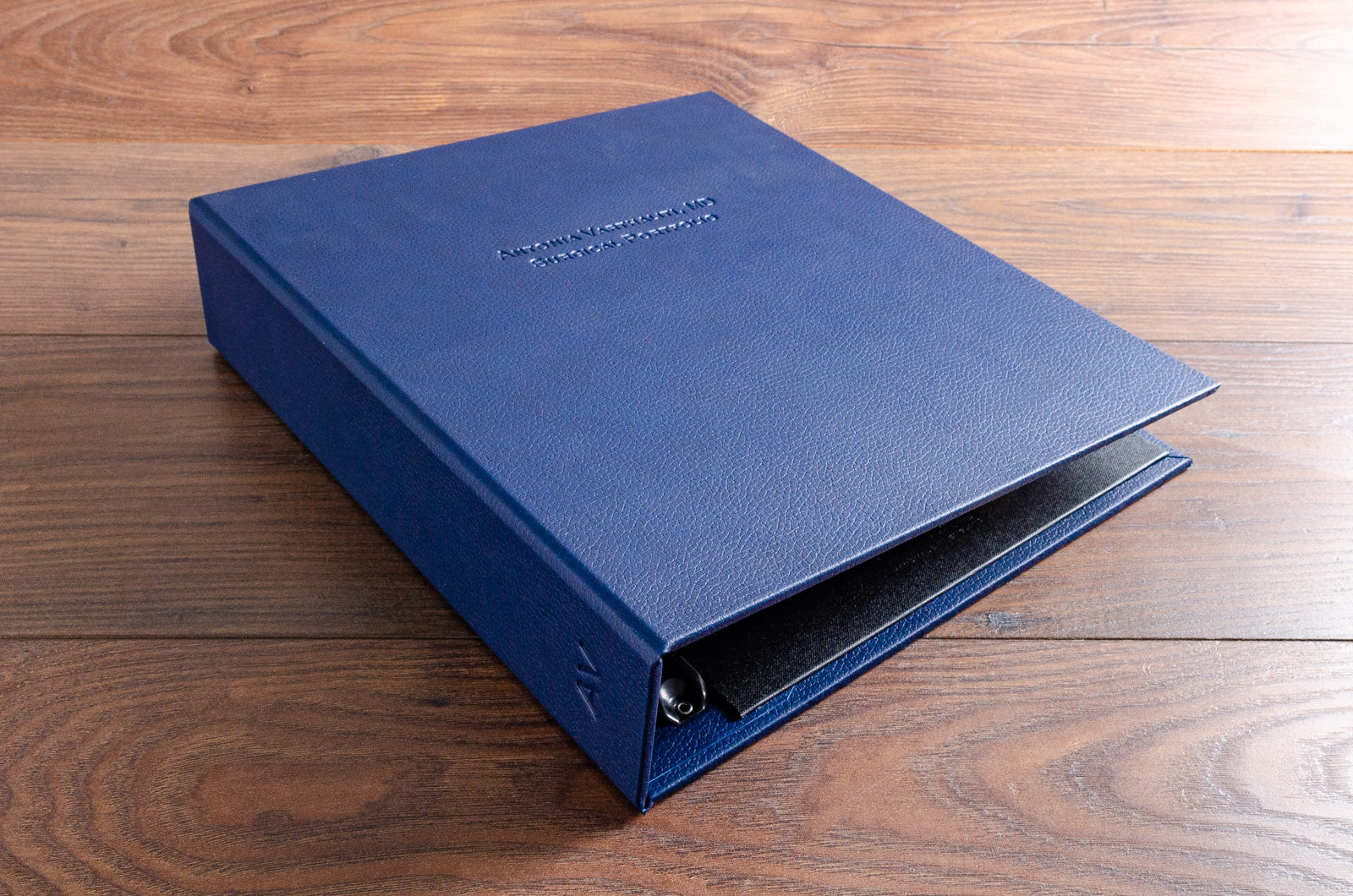 Medical Portfolio in Midnight Blue Faux Leather