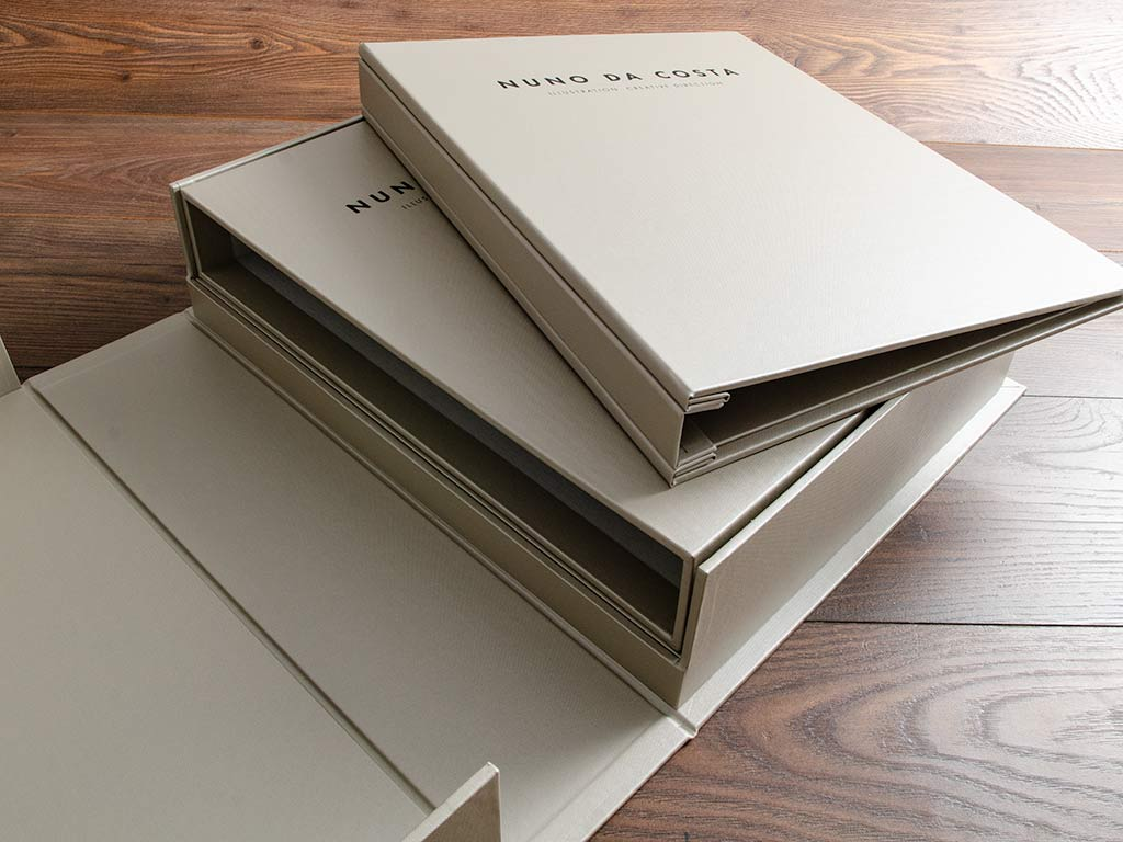 A4 Portfolio Book Slides into It's Own Slipcase