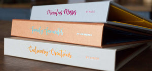 personalised recipe files. custom made with personalised names on spines and covers