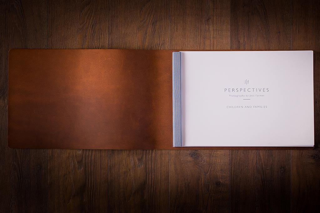 photographers leather photography portfolio inside cover jess farmer h&co