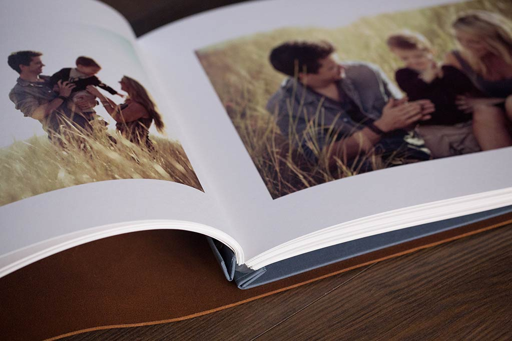 photographers print portfolio with printed images inserted by jess farmer photographer
