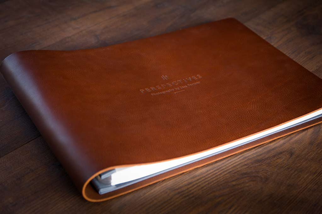 photographer jess farmers leather print portfolio book handmade by hartnack and co