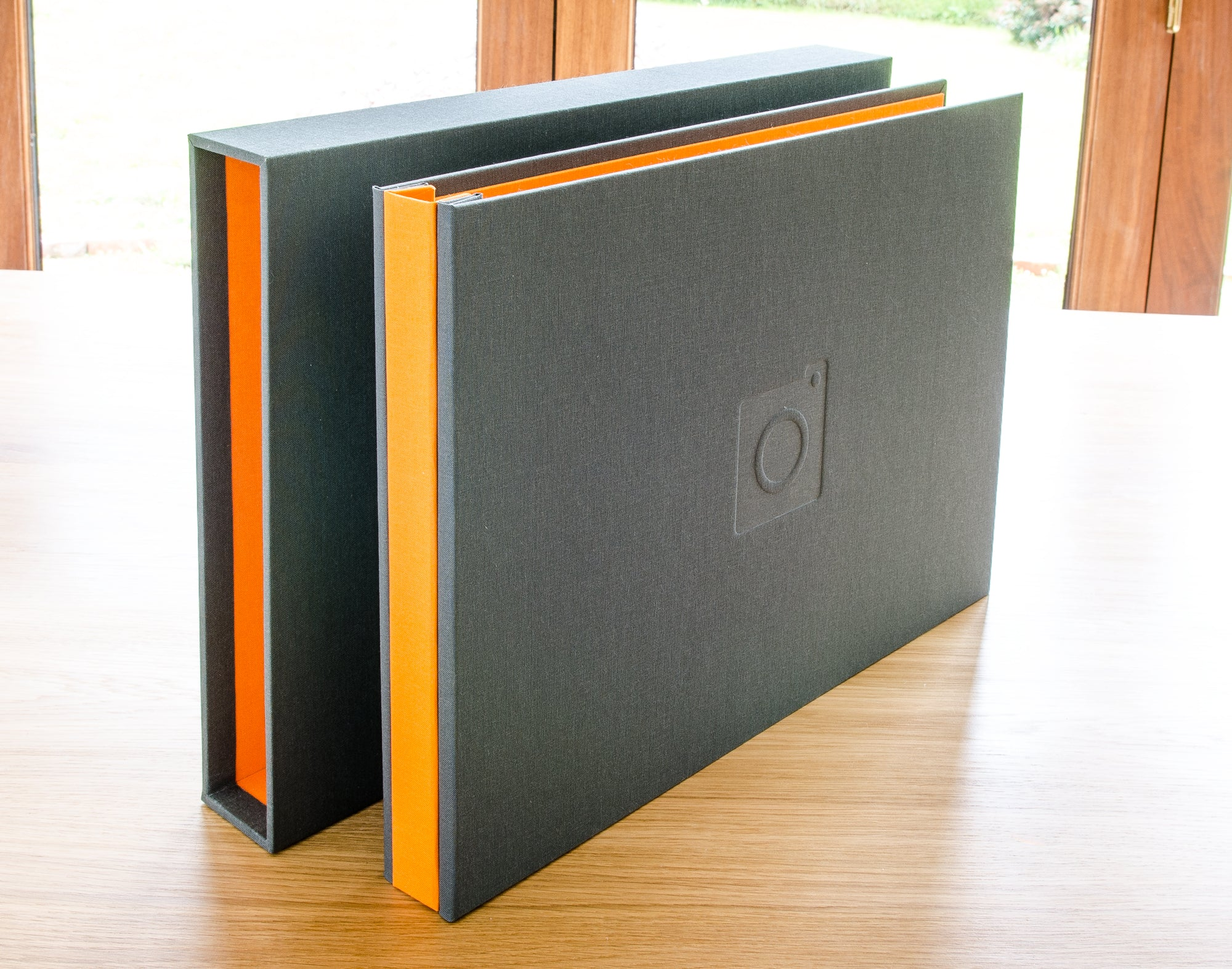 Slipcase for portfolio display binder