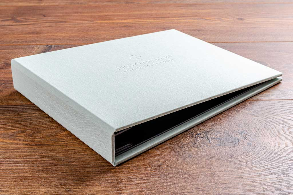 8.5 x 11 Pilots logbook binder with personalised embossed name on the cover and spine