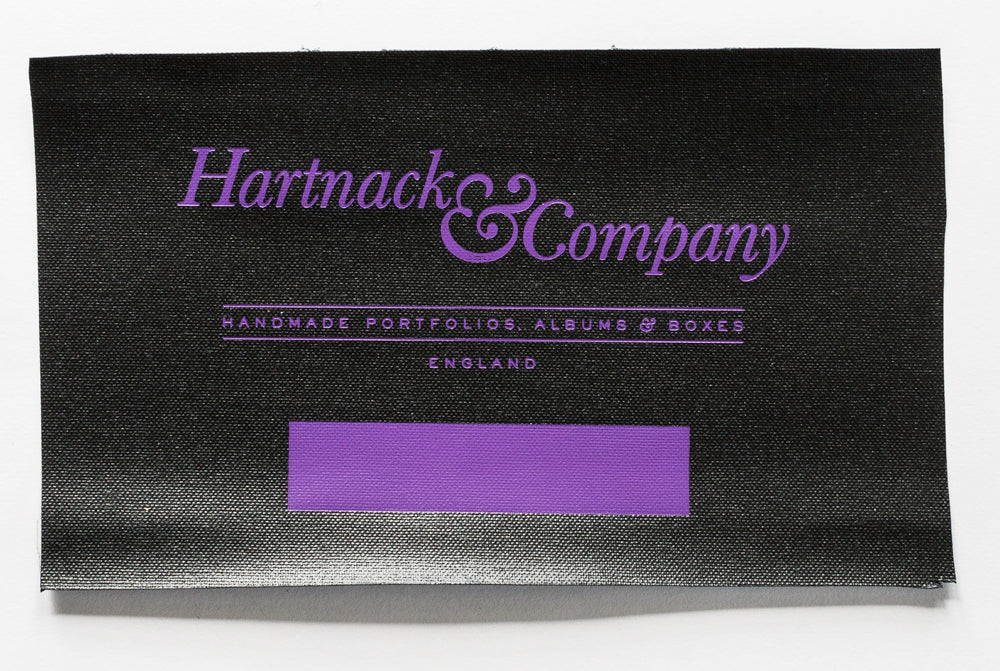 Purple V937 Foil on Black Buckram