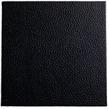 black faux leather portfolio and box covering material