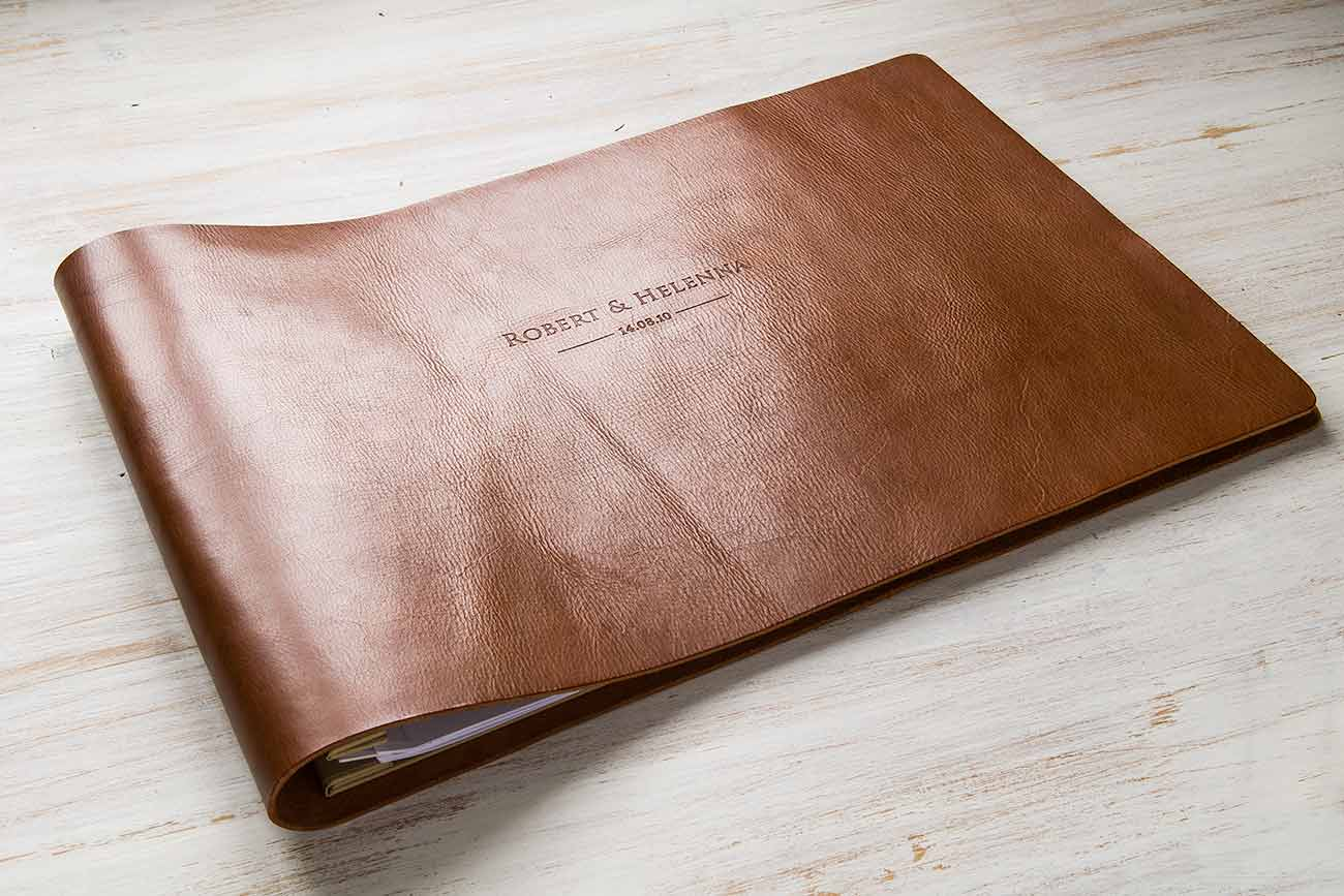 leather a3 wedding album by hartnack and co