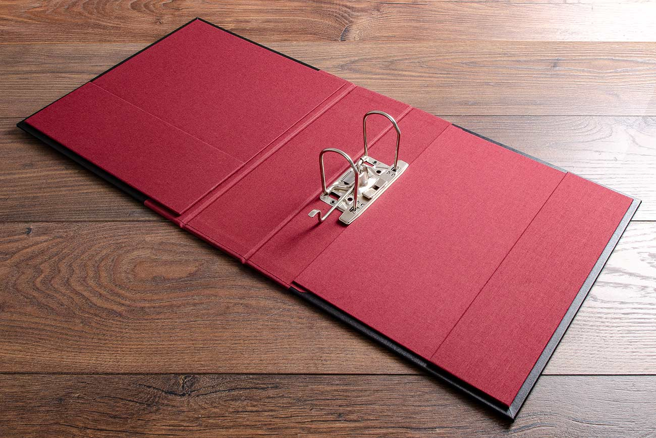 Surgical portfolio with 6.5mm lever arch binder and vistula red book cloth