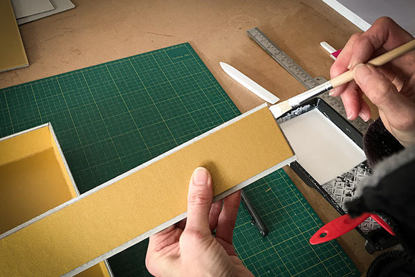 hand making a slipcase