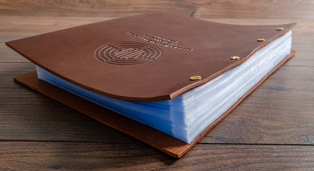 leather car document folder with personalised cover