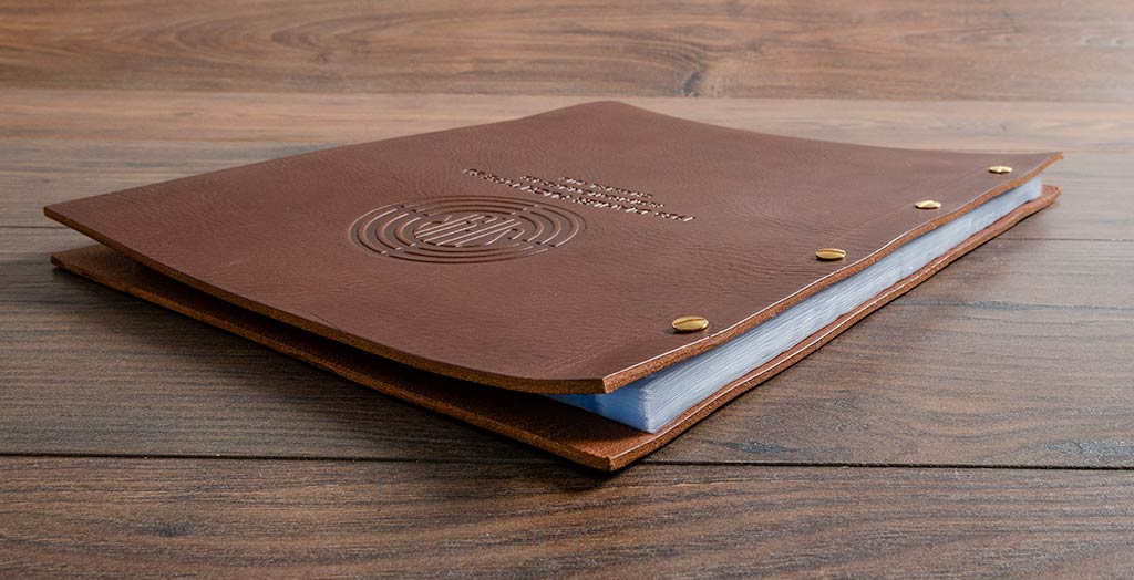 leather custom motor vehicle history and document folder