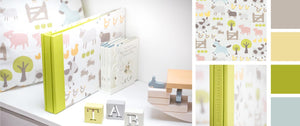 banner for custom made baby album section in blog