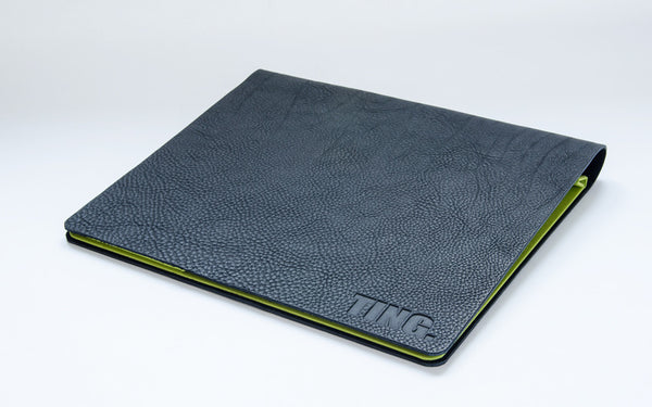 A4 Black Leather Flip Over Presentation Portfolio Binder