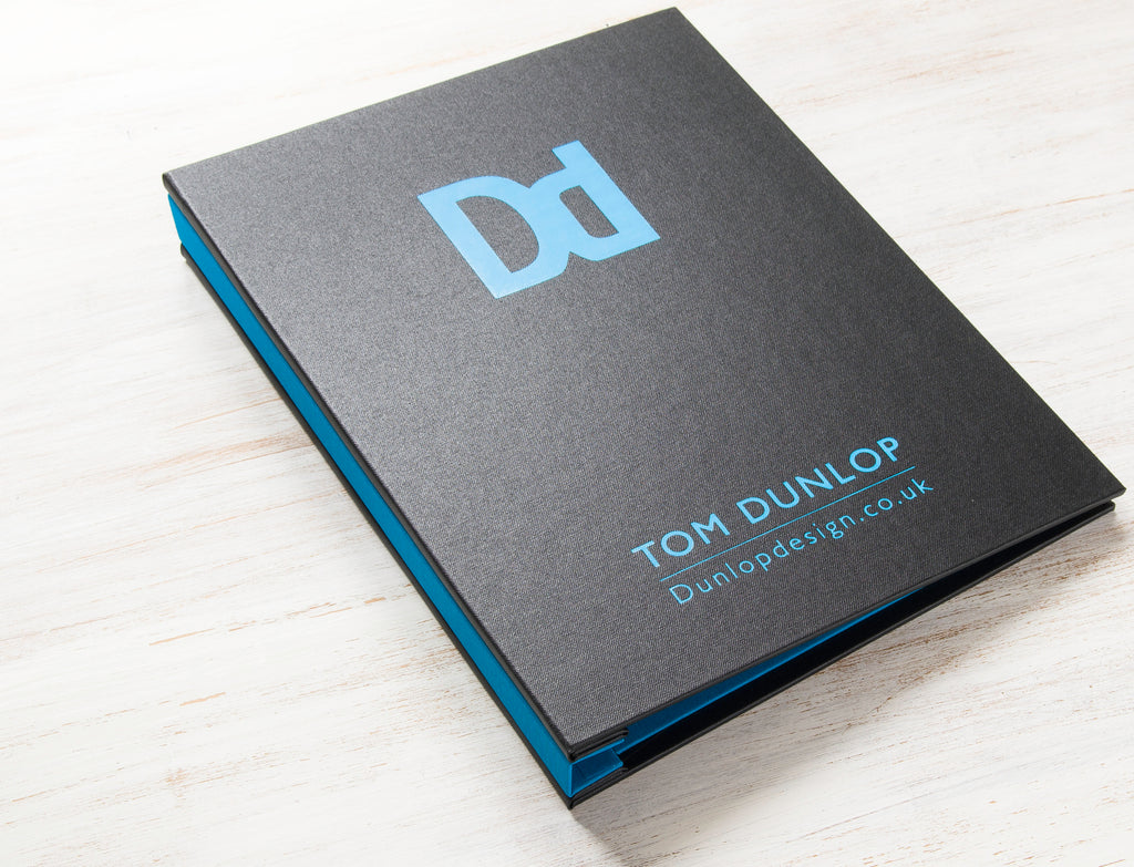 graphic design portfolio book a4 portrait with foiled cover