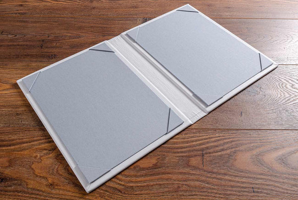 luxury leather menu cover with page holder inner covers to fit A5 paper