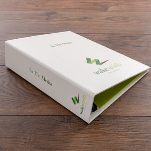 Law Firms Media and Press Cuttings Folder with Custom full Colour Personalisation by Hartnack & Co