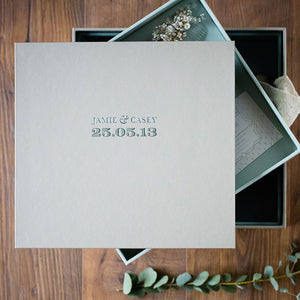 wedding keepsake box personalised and custom made